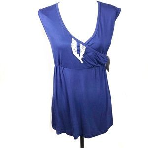 Lamaze Top Navy Blue Sleeveless